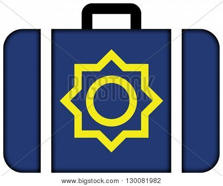 Flag Of Seoul 1947 To 1996. Suitcase Icon, Travel And Transportation Concept
