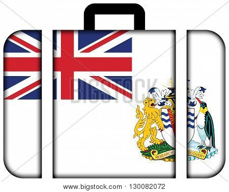 Flag Of The British Antarctic Territory. Suitcase Icon, Travel And Transportation Concept