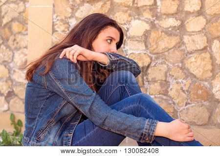 Young Woman In Despair
