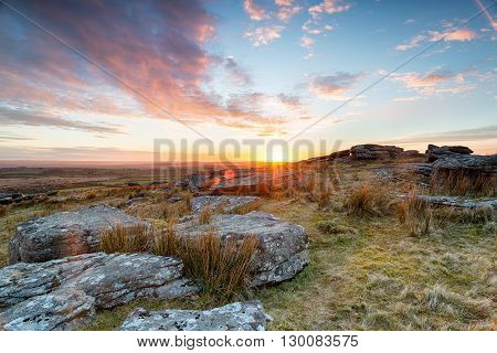 Stunning Sunset Over Alex Tor