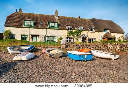 Cottages On The Beach At Porlock Weir