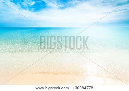 Perfect tropical paradise beach / Sunny day sea paradise / Sea paradise / Paradise postcard