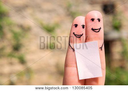 Finger Family. Art of finger. Two people