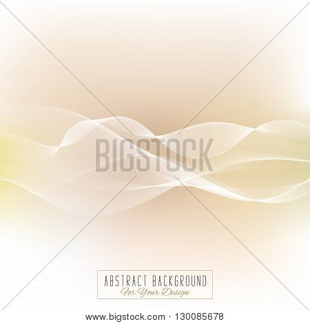 Abstract vector background. Waved lines for card brochure website flyer design. Elegant background for business presentations. White and cream colors