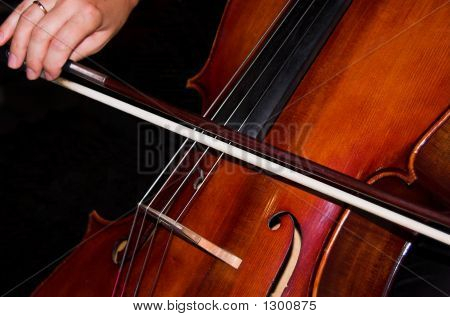 Feminine Hands Playing Cello