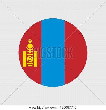 Set of vector icons with Mongolia flag