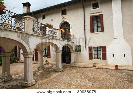 View of Palazzo Scolari in Polcenigo Pordenone. italy