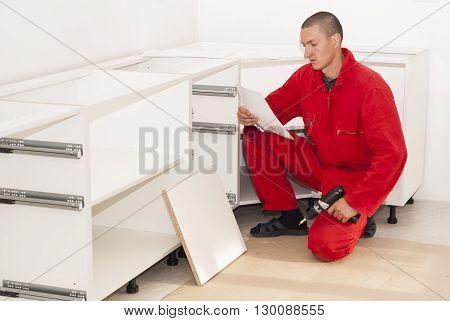 Master Assembles Furniture