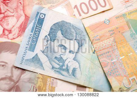 Nikola Tesla 100 Dinar Bill