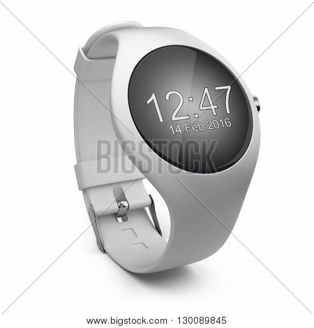 White smart watch isolated on a background 3d image