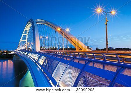 Apollo bridge over river Danube in Bratislava, Slovakia.