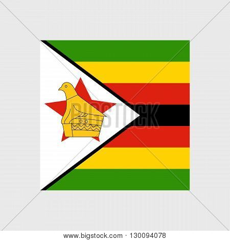Set of  vector icons with Zimbabwe flag