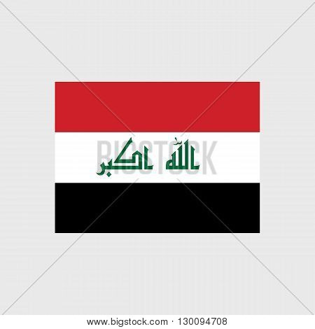 Set of vector icons with Iraq flag