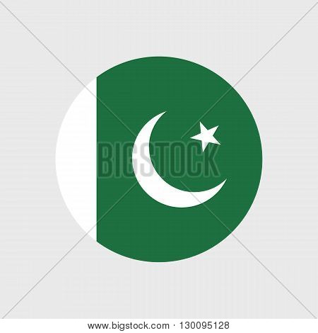 Set of vector icons with Pakistan flag