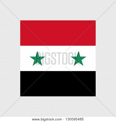 Set of vector icons with Syria flag