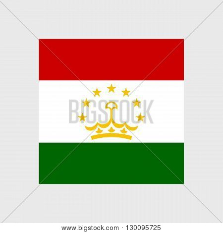 Set of vector icons with Tajikistan flag