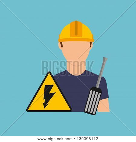 electrician isolated design, vector illustration eps10 graphic