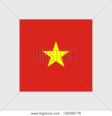 Set of vector icons with Vietnam flag