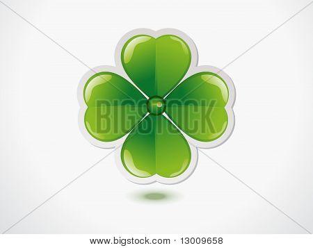 Abstract Green St Patriks Clove