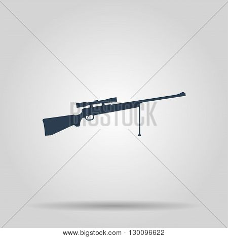 Sniper Rifle icon. concept illustration for design.