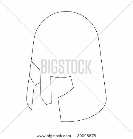 Helmet crusader icon, isometric 3d style isolated on white background. Black illustration for web