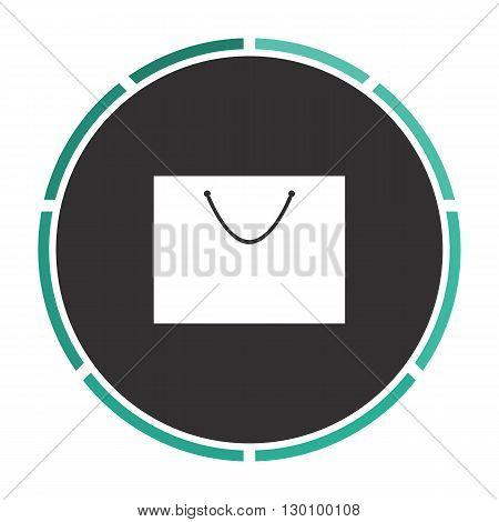 bag Simple flat white vector pictogram on black circle. Illustration icon
