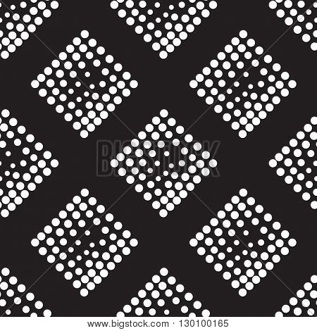 Vector Geometric Square Seamless Pattern