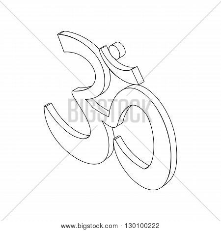 Om sign in isometric 3d style isolated on white background