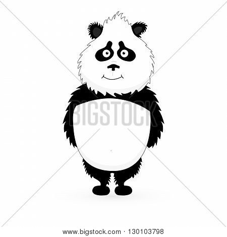 Vector Illustrative of Panda. Cute Panda Cartoon on white