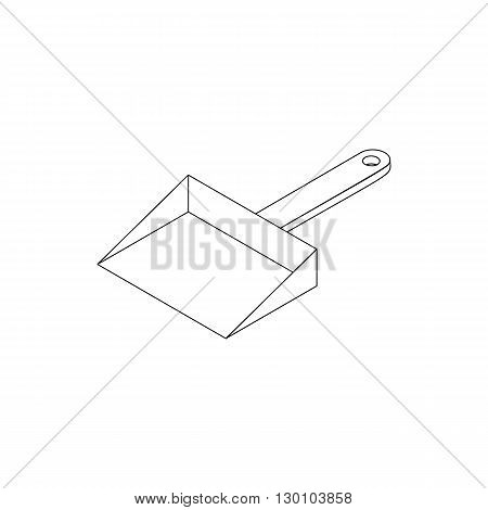 Dustpan icon in isometric 3d style isolated on white background. Cleaning