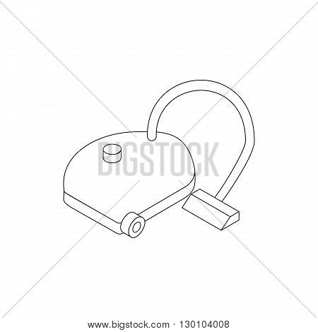 vacuum cleaner icon in isometric 3d style isolated on white background