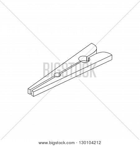 Clothespin icon in isometric 3d style isolated on white background