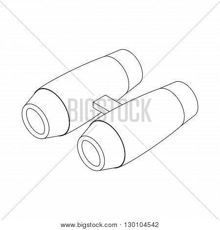 Binoculars icon in isometric 3d style isolated on white background