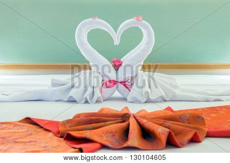 decorate pair of clean towel