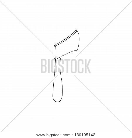Axe icon in isometric 3d style on a white background