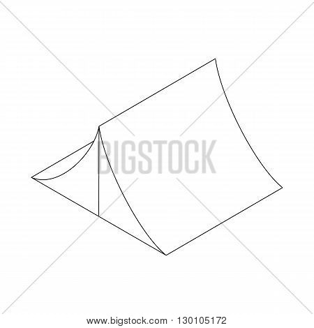 Tent icon in isometric 3d style on a white background