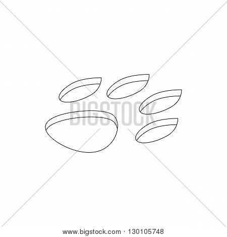 Animal paw icon in isometric 3d style on a white background