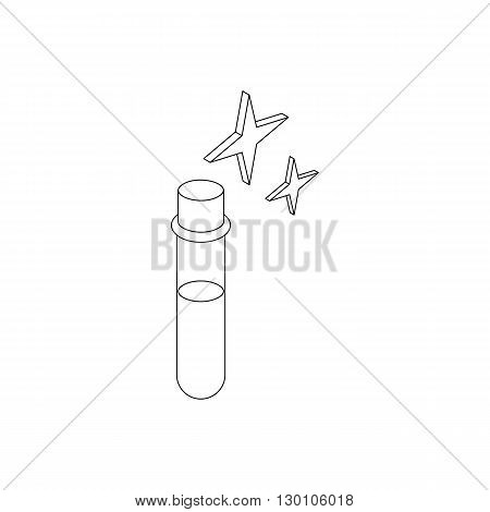Potion test tube icon in isometric 3d style on a white background