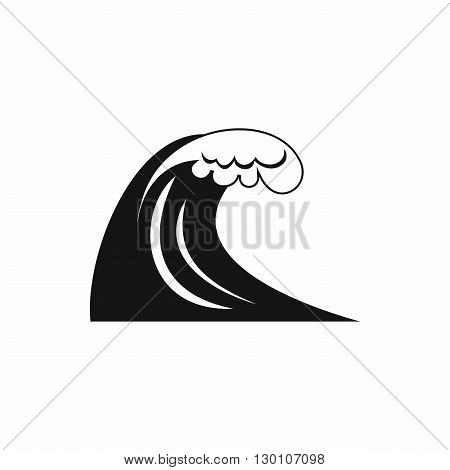 Big wave icon in simple style on a white background