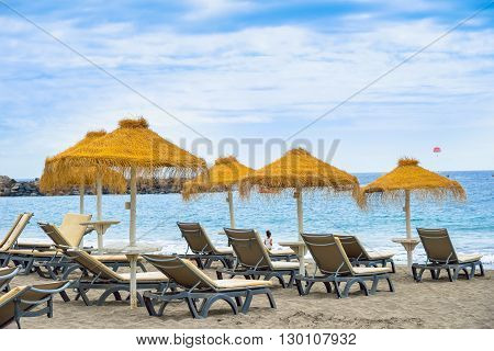 Playa del Duque beach Costa Adeje Tenerife Canary Islands Spain