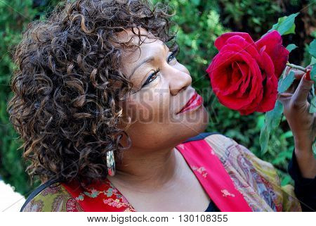 African american female beauty fashion model expressions outdoors.