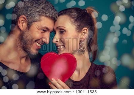 luxury style couple on valentines day