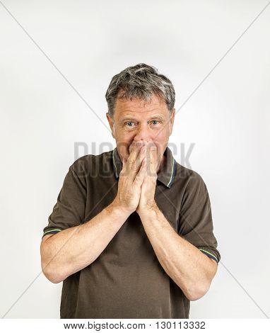Anxious Gesturing Man