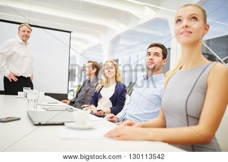 Consultant and business team in a business meeting in the conference room