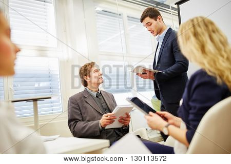 attorney in business meeting as a competent consultant