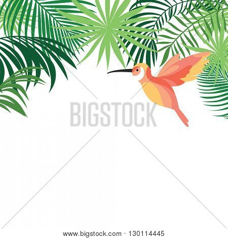 tropical banner with birds