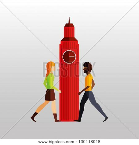 visit london design, vector illustration eps10 graphic