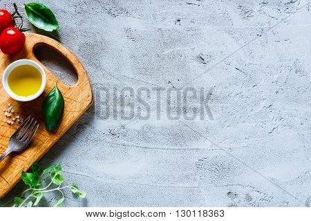 Italian Food Cooking Ingredients.