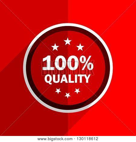 red flat design quality web modern icon