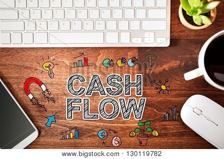 Cash Flow Concept With Workstation